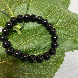 Other - Black Onyx Stretchy Mens Bracelet